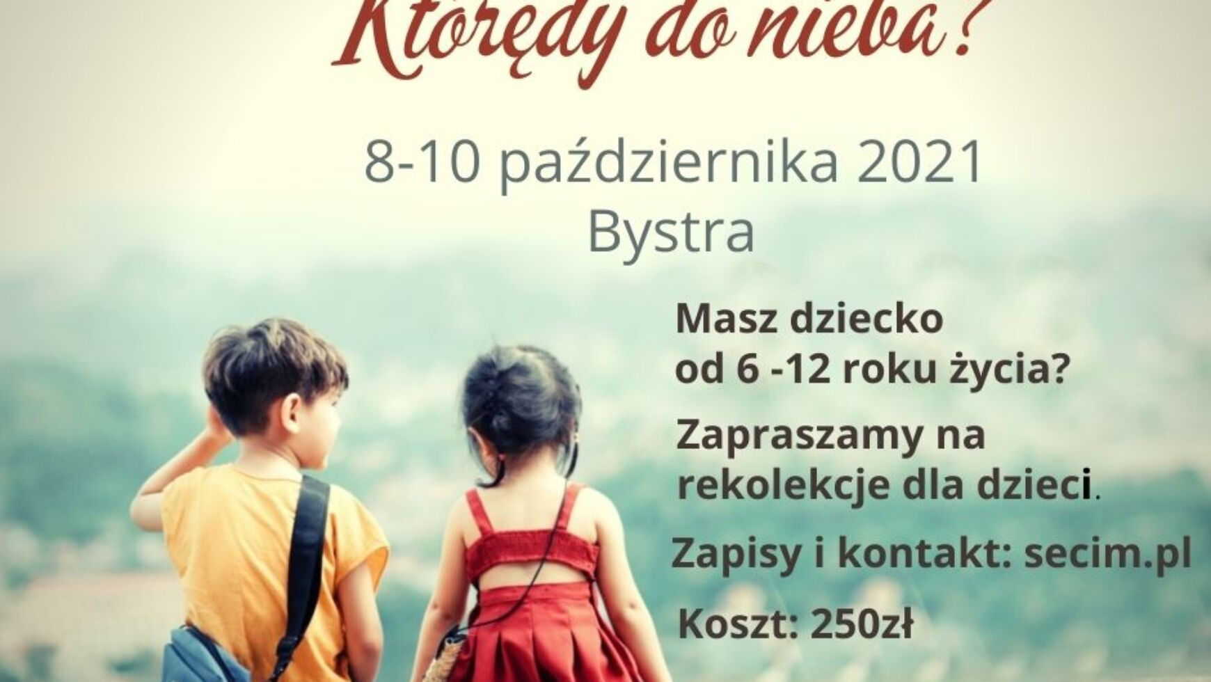 Kurs dla dzieci, 8-10.10.2021 Bystra